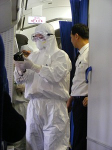 Testing Swine Flu on Plane