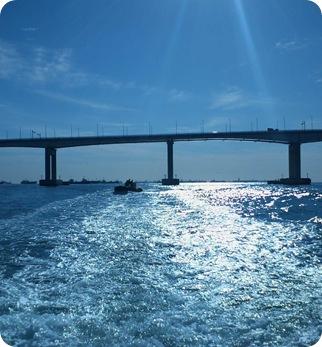 Busans Bridge and Sun
