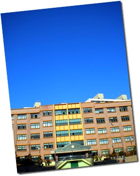 School with Blue Sky